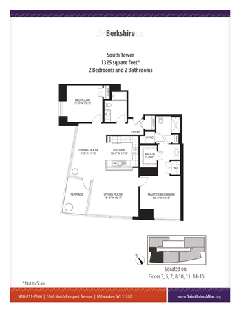 Floorplan of Saint John on the Lake, Assisted Living, Nursing Home, Independent Living, CCRC, Milwaukee, WI 7