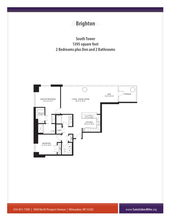 Floorplan of Saint John on the Lake, Assisted Living, Nursing Home, Independent Living, CCRC, Milwaukee, WI 11