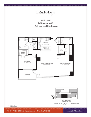 Floorplan of Saint John on the Lake, Assisted Living, Nursing Home, Independent Living, CCRC, Milwaukee, WI 14