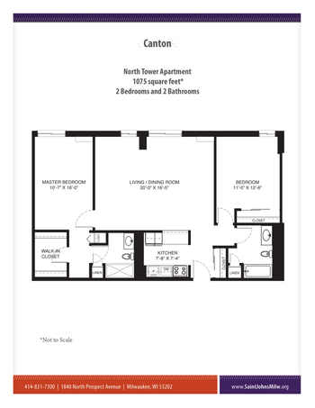 Floorplan of Saint John on the Lake, Assisted Living, Nursing Home, Independent Living, CCRC, Milwaukee, WI 15