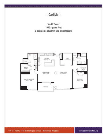 Floorplan of Saint John on the Lake, Assisted Living, Nursing Home, Independent Living, CCRC, Milwaukee, WI 18