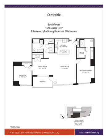 Floorplan of Saint John on the Lake, Assisted Living, Nursing Home, Independent Living, CCRC, Milwaukee, WI 20