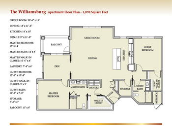 Floorplan of Patriots Colony, Assisted Living, Nursing Home, Independent Living, CCRC, Williamsburg, VA 4