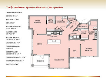 Floorplan of Patriots Colony, Assisted Living, Nursing Home, Independent Living, CCRC, Williamsburg, VA 5