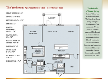Floorplan of Patriots Colony, Assisted Living, Nursing Home, Independent Living, CCRC, Williamsburg, VA 6