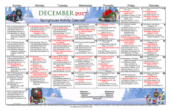 Activity Calendar of Patriots Colony, Assisted Living, Nursing Home, Independent Living, CCRC, Williamsburg, VA 4