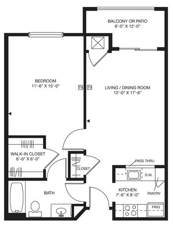Floorplan of Bellingham Retirement Community, Assisted Living, Nursing Home, Independent Living, CCRC, West Chester, PA 3