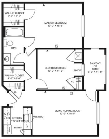 Floorplan of Bellingham Retirement Community, Assisted Living, Nursing Home, Independent Living, CCRC, West Chester, PA 4