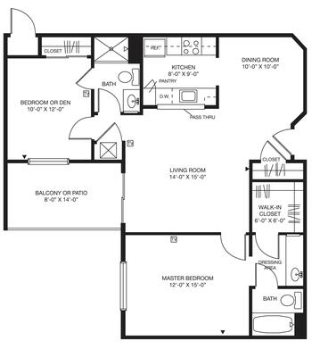 Floorplan of Bellingham Retirement Community, Assisted Living, Nursing Home, Independent Living, CCRC, West Chester, PA 5