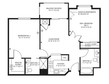 Floorplan of Bellingham Retirement Community, Assisted Living, Nursing Home, Independent Living, CCRC, West Chester, PA 6