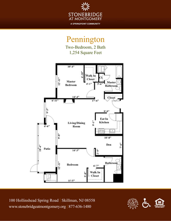 Floorplan of Stonebridge at Montgomery, Assisted Living, Nursing Home, Independent Living, CCRC, Skillman, NJ 1