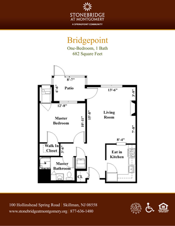 Floorplan of Stonebridge at Montgomery, Assisted Living, Nursing Home, Independent Living, CCRC, Skillman, NJ 2