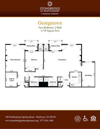 Floorplan of Stonebridge at Montgomery, Assisted Living, Nursing Home, Independent Living, CCRC, Skillman, NJ 3