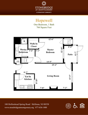 Floorplan of Stonebridge at Montgomery, Assisted Living, Nursing Home, Independent Living, CCRC, Skillman, NJ 4