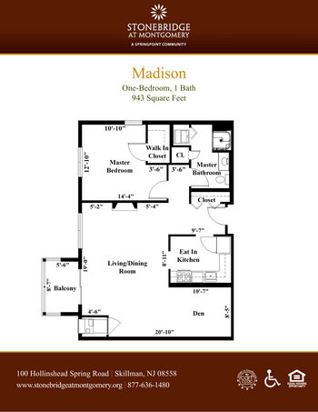 Floorplan of Stonebridge at Montgomery, Assisted Living, Nursing Home, Independent Living, CCRC, Skillman, NJ 5