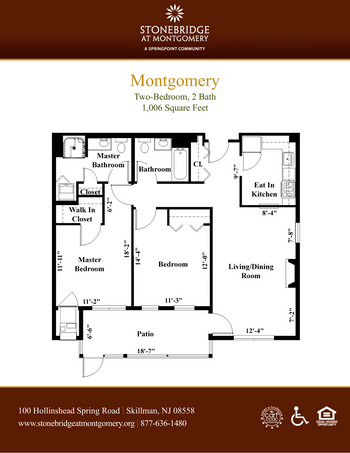 Floorplan of Stonebridge at Montgomery, Assisted Living, Nursing Home, Independent Living, CCRC, Skillman, NJ 6