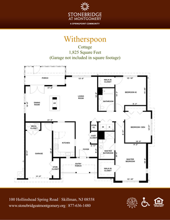 Floorplan of Stonebridge at Montgomery, Assisted Living, Nursing Home, Independent Living, CCRC, Skillman, NJ 11