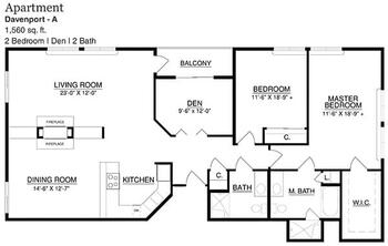 Floorplan of Touchmark on South Hill, Assisted Living, Nursing Home, Independent Living, CCRC, Spokane, WA 11