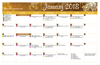 Activity Calendar of Cobblestone Crossings Health Campus, Assisted Living, Nursing Home, Independent Living, CCRC, Terre Haute, IN 4
