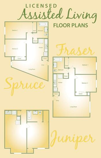 Floorplan of Golden Years, Assisted Living, Nursing Home, Independent Living, CCRC, Fort Wayne, IN 1