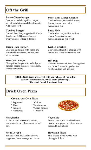 Dining menu of Mercy Ridge, Assisted Living, Nursing Home, Independent Living, CCRC, Timonium, MD 10