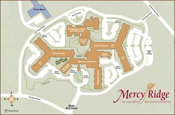 Campus Map of Mercy Ridge, Assisted Living, Nursing Home, Independent Living, CCRC, Timonium, MD 1
