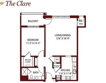 Floorplan of Mercy Ridge, Assisted Living, Nursing Home, Independent Living, CCRC, Timonium, MD 9