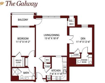 Floorplan of Mercy Ridge, Assisted Living, Nursing Home, Independent Living, CCRC, Timonium, MD 13