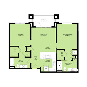 Perryman: 2 Bedrooms, 2 Baths, 1,091 sq.ft.