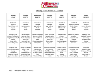 Dining menu of Three Links, Assisted Living, Nursing Home, Independent Living, CCRC, Northfield, MN 2