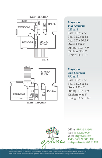 Floorplan of The Groves, Assisted Living, Nursing Home, Independent Living, CCRC, Independence, MO 4
