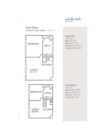 Floorplan of The Groves, Assisted Living, Nursing Home, Independent Living, CCRC, Independence, MO 13
