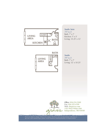 Floorplan of The Groves, Assisted Living, Nursing Home, Independent Living, CCRC, Independence, MO 16