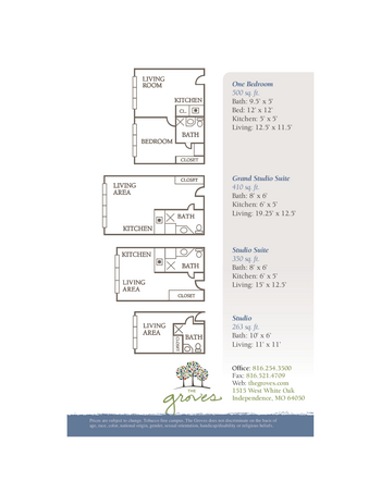 Floorplan of The Groves, Assisted Living, Nursing Home, Independent Living, CCRC, Independence, MO 18