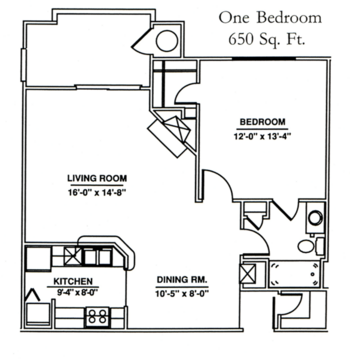 Floorplan of Windsor Point, Assisted Living, Nursing Home, Independent Living, CCRC, Fuquay Varina, NC 6