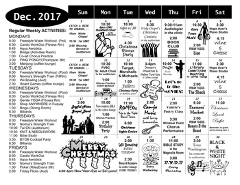 Activity Calendar of Windsor Point, Assisted Living, Nursing Home, Independent Living, CCRC, Fuquay Varina, NC 1