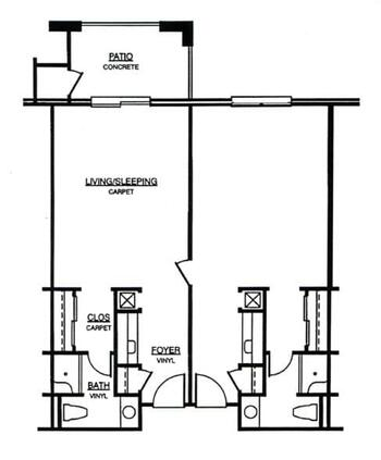 Floorplan of Windsor Point, Assisted Living, Nursing Home, Independent Living, CCRC, Fuquay Varina, NC 8