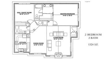 Floorplan of Windsor Point, Assisted Living, Nursing Home, Independent Living, CCRC, Fuquay Varina, NC 12