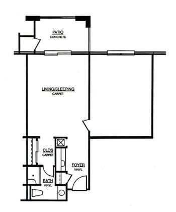 Floorplan of Windsor Point, Assisted Living, Nursing Home, Independent Living, CCRC, Fuquay Varina, NC 13