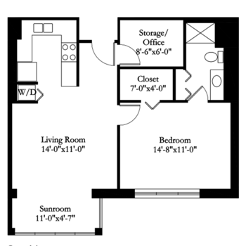 Floorplan of Carol Woods, Assisted Living, Nursing Home, Independent Living, CCRC, Chapel Hill, NC 3
