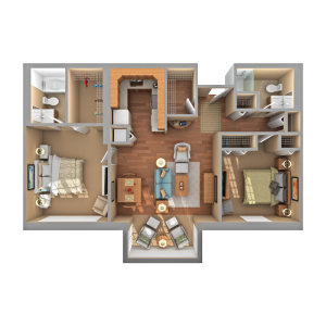 Floorplan of Carol Woods, Assisted Living, Nursing Home, Independent Living, CCRC, Chapel Hill, NC 11