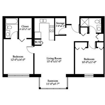 Floorplan of Carol Woods, Assisted Living, Nursing Home, Independent Living, CCRC, Chapel Hill, NC 10