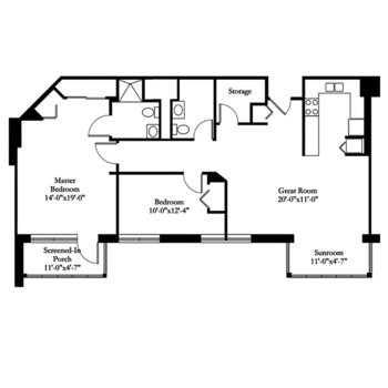 Floorplan of Carol Woods, Assisted Living, Nursing Home, Independent Living, CCRC, Chapel Hill, NC 12