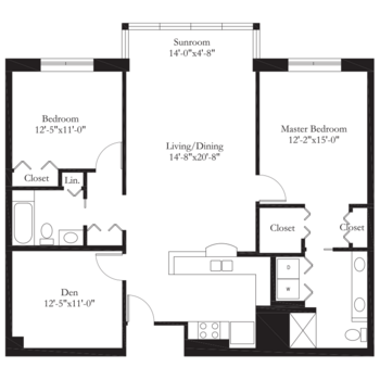 Floorplan of Carol Woods, Assisted Living, Nursing Home, Independent Living, CCRC, Chapel Hill, NC 4