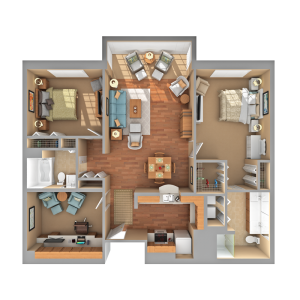 Floorplan of Carol Woods, Assisted Living, Nursing Home, Independent Living, CCRC, Chapel Hill, NC 5