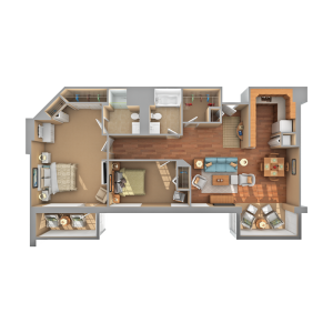 Floorplan of Carol Woods, Assisted Living, Nursing Home, Independent Living, CCRC, Chapel Hill, NC 8
