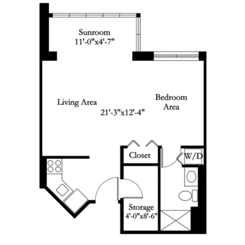 Floorplan of Carol Woods, Assisted Living, Nursing Home, Independent Living, CCRC, Chapel Hill, NC 15