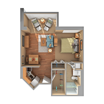 Floorplan of Carol Woods, Assisted Living, Nursing Home, Independent Living, CCRC, Chapel Hill, NC 14