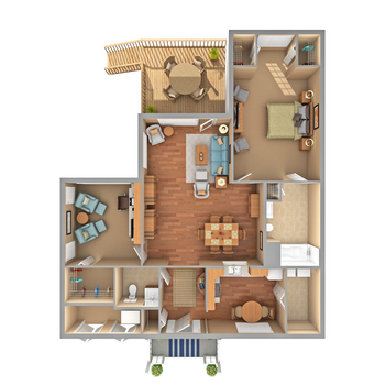 Floorplan of Carol Woods, Assisted Living, Nursing Home, Independent Living, CCRC, Chapel Hill, NC 16