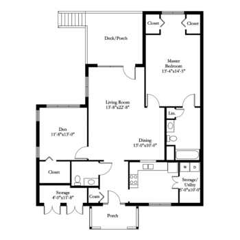Floorplan of Carol Woods, Assisted Living, Nursing Home, Independent Living, CCRC, Chapel Hill, NC 18